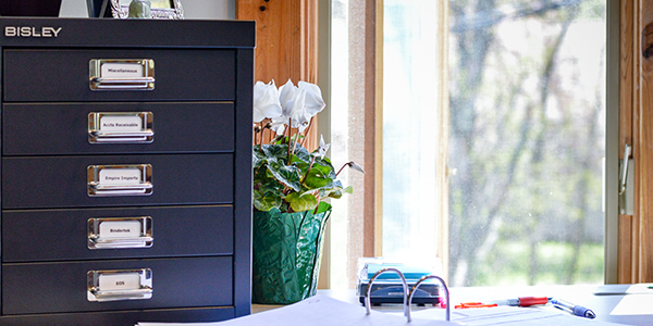 Create a positive environment with a Bisley Desktop Multidrawer Steel Cabinet
