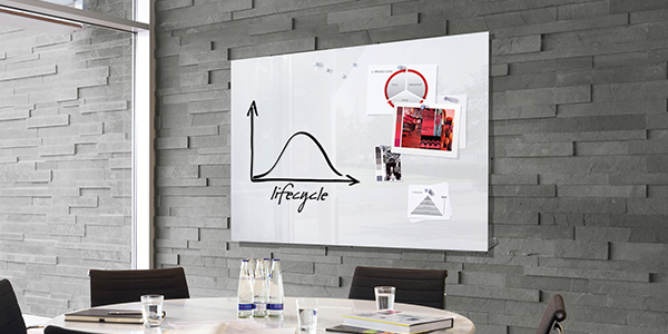 Display reminders with a Magnetic Glass Board